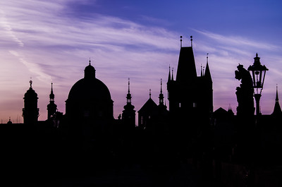 Charles Bridge Silhouette