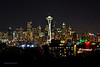 Night-time Skyline From Queen Ann's Kerry Park, Seattle WA