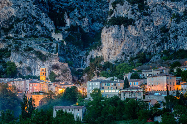 Moustiers at dusk