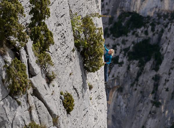 Rockclimbing in the Gorges du Verdon