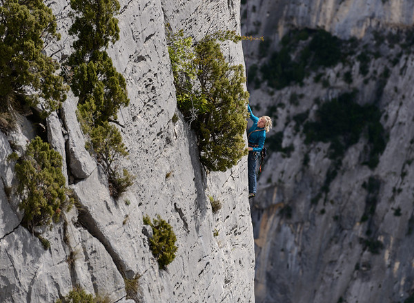 Rockclimbing in the Gorges du Verdon