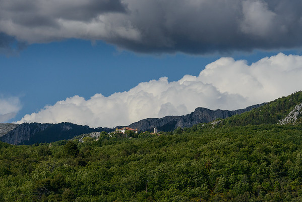 Dramatic clouds over Aiguines