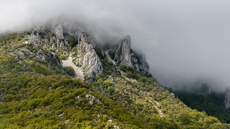 Cloudy morning in the Gorges du Verdon