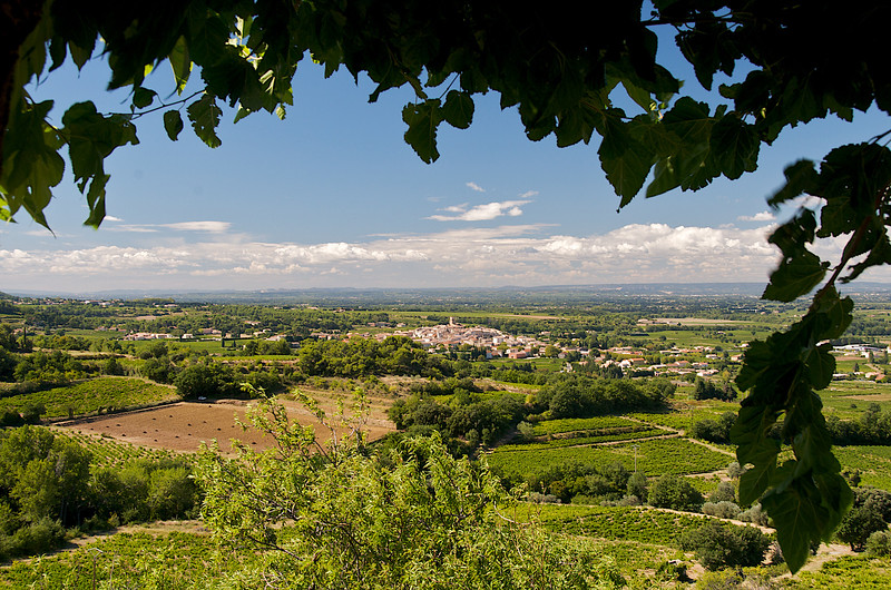 View of Sablet from Vaison-la-Romaine