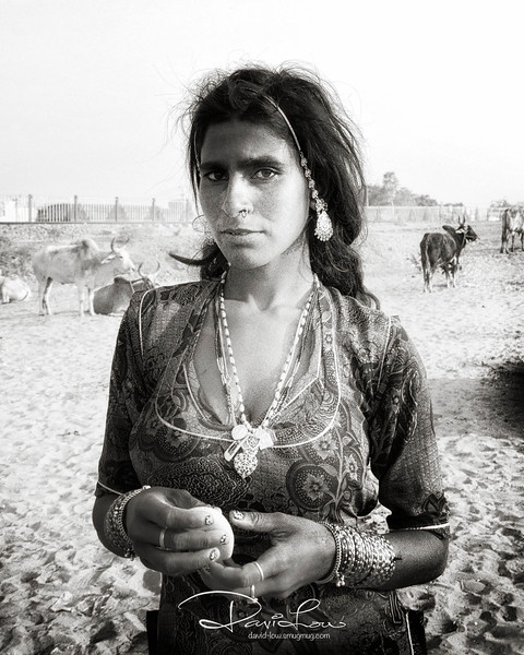 One of the trader's wife.