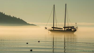 Dawn on Tadoussac Bay, QC