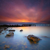 Rocky Point Park Warwick Rhode Island, Stars and Sunrise over Decayed Pier
