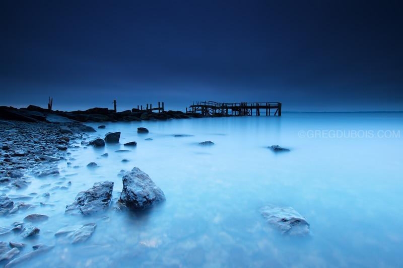 Decayed Pier at Dawn in Rocky Point Park Warwick Rhode Island