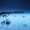 Decayed Pier at Dawn in Rocky Point Park Warwick Rhode Island