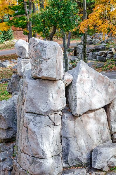 Rib Mountain Stacked Rocks