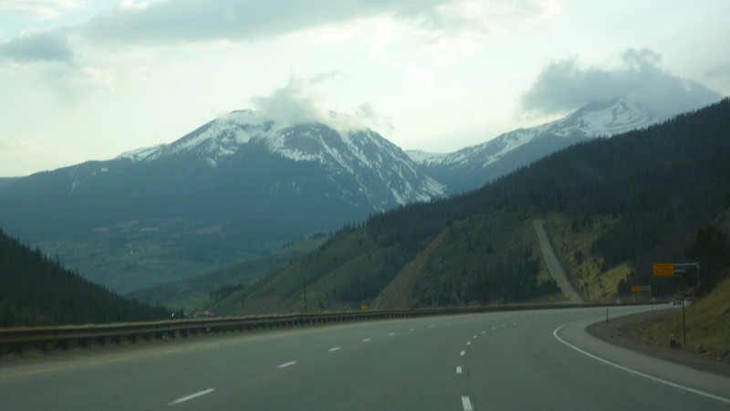 Driving through Colorado on the way to Utah