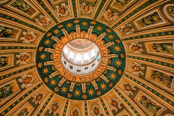 Vatican Ceiling, Vatican City, Italy