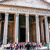 The Pantheon was commissioned by Marcus Agrippa (during the reign of Augustus) as a temple to all the gods of ancient Rome. It was rebuilt by the emperor Hadrian about 126 AD.