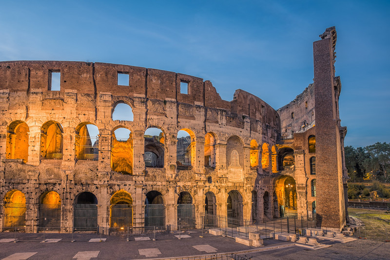 Different view at the Colosseum