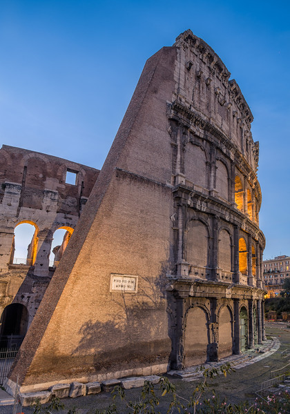 Eastern side of the Colosseum