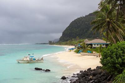 Lalomanu beach view