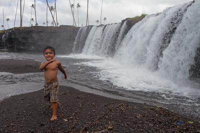 Boy. Where river meets the ocean