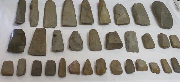 Stone adzes.