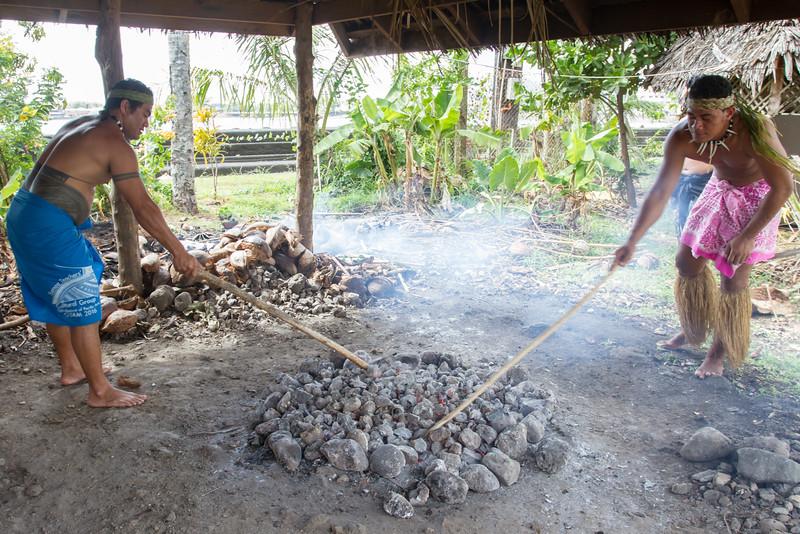 Fire-heated rocks.