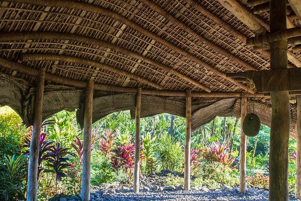 Traditional fale - rare structure.