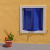 Window with Blue Shutters, Santorni, Greece