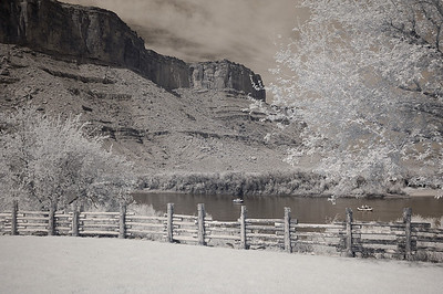 Infrared Image Red Cliffs Lodge Moab Utah