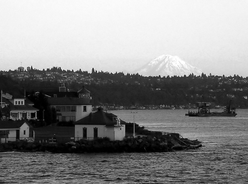 Puget Sound with Mt. Rainier in background