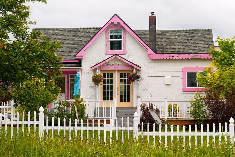 Pink & White House, Seward, Alaska
