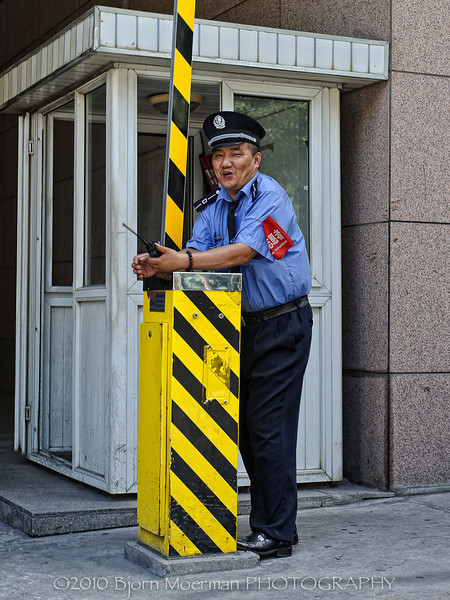 Security at work, Shanghai, China