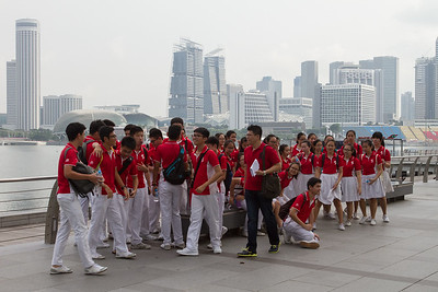 Pupils. Photo at Marina Bay