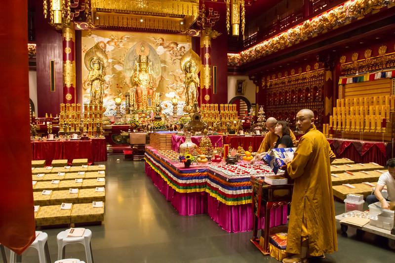 Budha temple interior