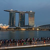 Marina Bay view at twilight