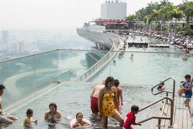 Pool at Marina Bay Sands roof