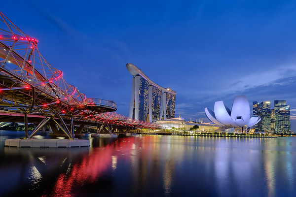 Marina Bay at dusk