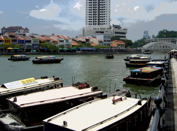 river taxis - Singapore