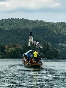 to Lake Bled Island