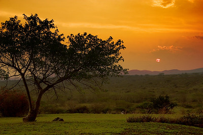 Sunset from the Bush Camps at Zulu Nyala
