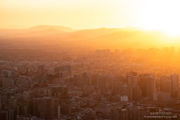 Santiago de Chile st sunset