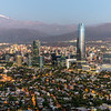 Santiago de Chile after sunset