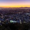 Santiago de Chile after sunset