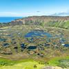 volcanic crater Rano Kau of Rapa Nui