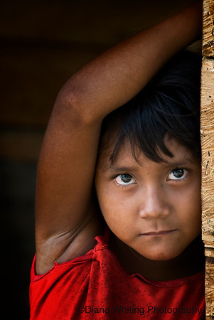 Child at El Toro Village Venezuela in the Orinoco River