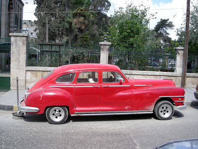 an old car in Aleppo