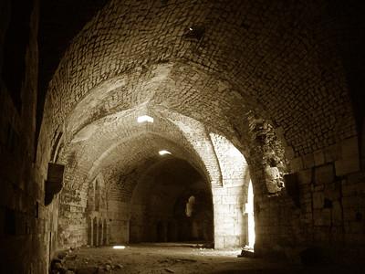 inside the walls at Krak des Chevaliers