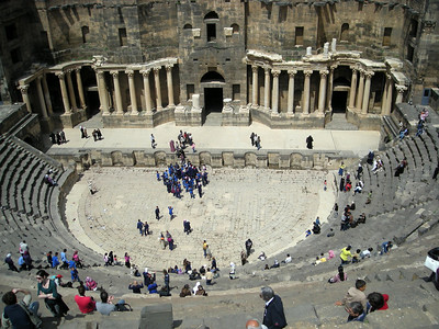 the Roman theatre at Bosra, Syria