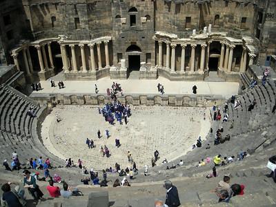 the Roman theatre at Bosra, Syria