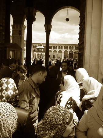 after Friday afternoon prayers, Umayyad Mosque, Damascus