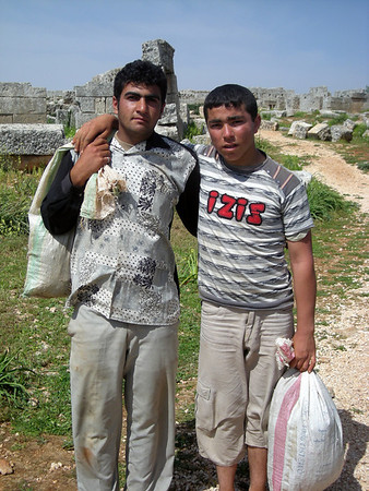 """young men in Serjilla, a """"Dead City"""""""