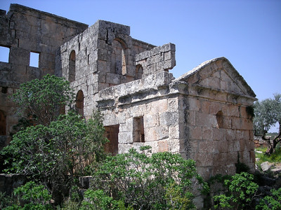 Byzantine church ruins at Al-Bara, Syria