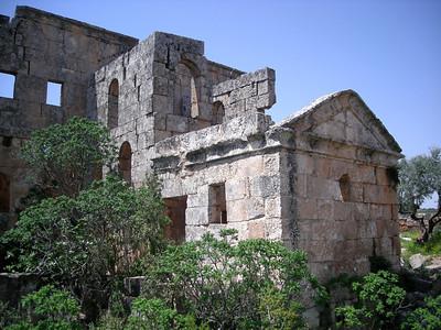 Byzantine church ruins at Al-Bara, Syria